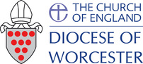 Churchill church, Blakedown church, Broome church; Diocese of Worcester logo