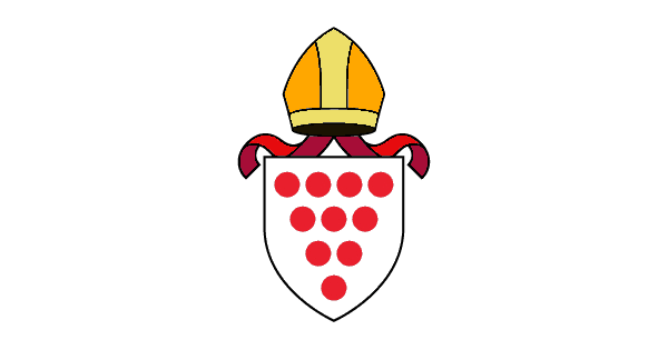 Churchill church, Blakedown church, Broome church; colour Diocese of Worcester Shield logo
